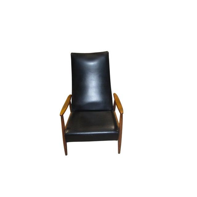 Image of Milo Baughman Mid-Century Black Recliner Chair