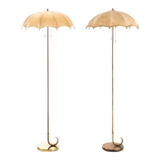 Gilbert Rohde Pair of Umbrella Floor Lamps
