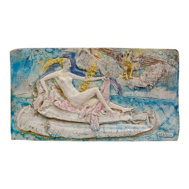 Ugo Lucerni Majolica Wall Relief - Image 1 of 8