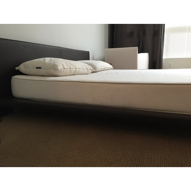King Size Leather Platform Bed - Image 7 of 9