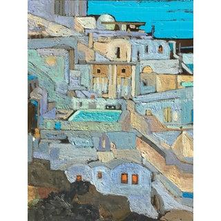 Mediterranean Hillside Oil Painting
