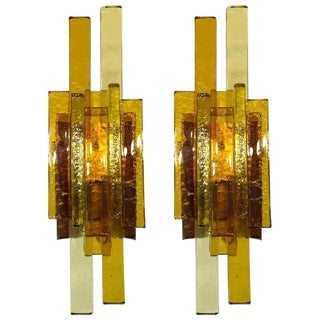 Pair of Glass Wall Sconces by Svend Aage Holm Sorensen
