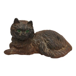 Cast Iron Hubley Cat Door Stop