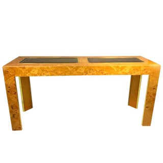 Burl Olive Ash Console or Sofa Table by Thomasville