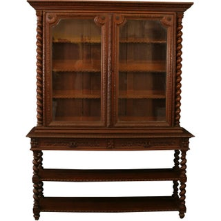 Antique Hunting Renaissance Bookcase Server, 1880