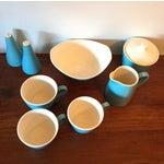 Image of Mid-Century Blue Breakfast Set