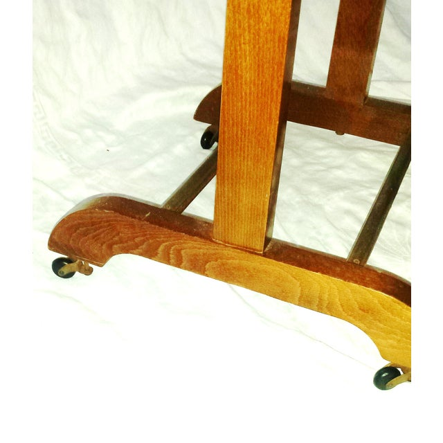 Image of Mid-Century Italian Wooden Valet With Casters