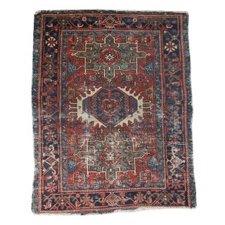 "Antique Karaja Square Rug - 3'6"" x 4'4"""