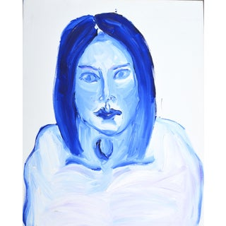 Intense Blue Lady Painting