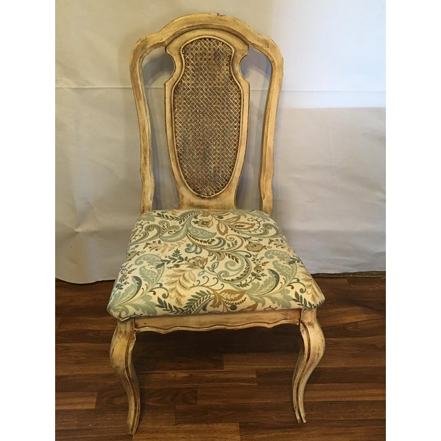 Vintage Cream Cane French Provencial Chair - Image 3 of 9