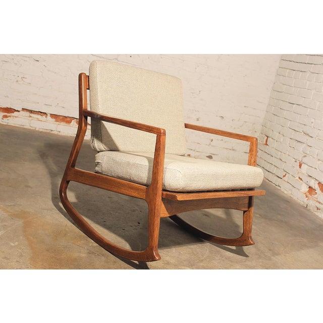 Mid Century Danish Modern Teak Rocking Chair Chairish