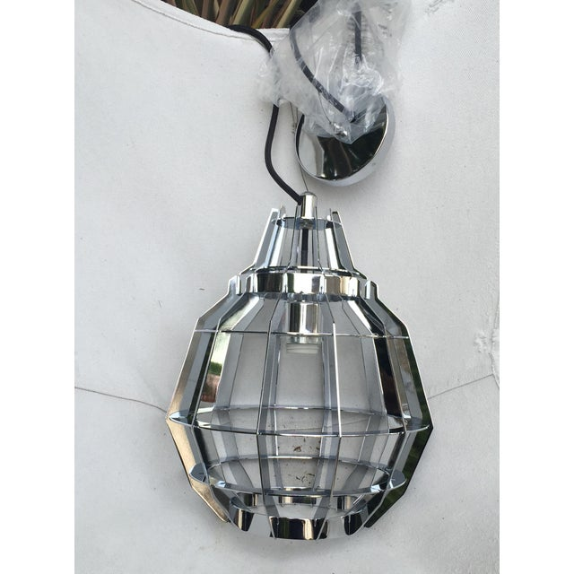 Cage Pendant Light - a Pair - Image 2 of 6