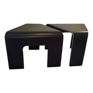 Bentwood Corner Tables - a Pair