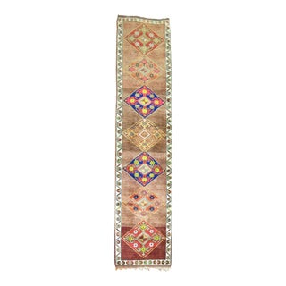 Turkish Anatolian Runner Rug - 2'11'' x 12'11''
