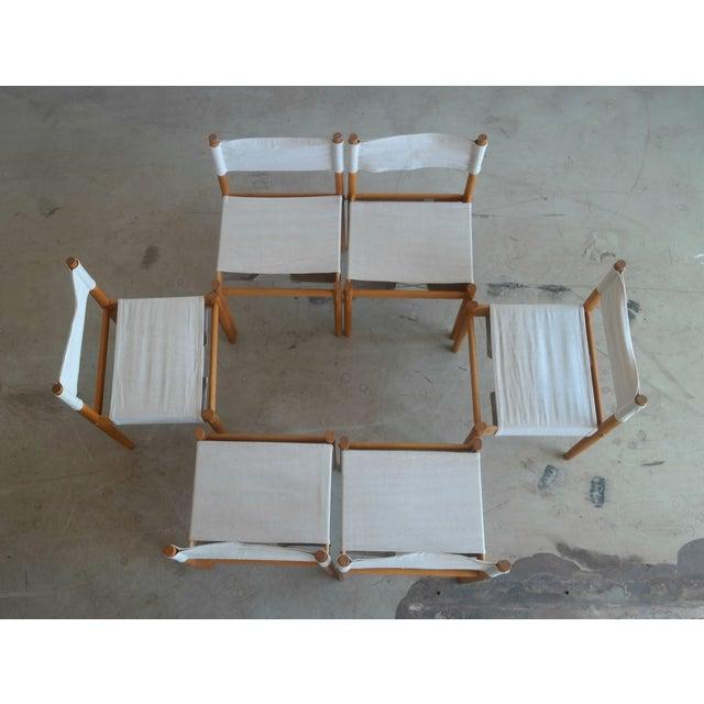 Danish Modern White Dining Chairs - Set of 6 - Image 6 of 10
