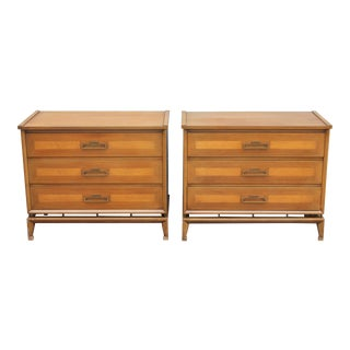 Mid-Century Bachelor Chests Nightstands - A PAir