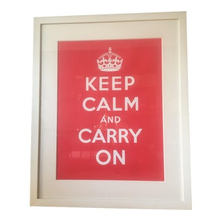 "Framed ""Keep Calm and Carry On"" Print"