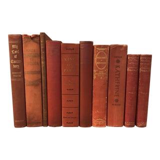 Decorative Red Books - Set of 10