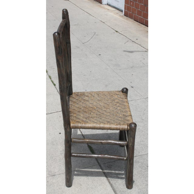 Rustic Hickory Dining Chairs - Set of 4 - Image 5 of 10
