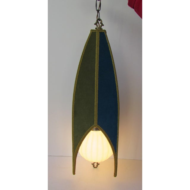 Mid Century Modern Teal Green Swag Lamp Chairish