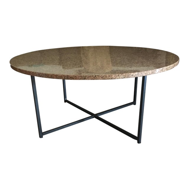 """Room & Board 36"""" Round Granite Table Top Only - Image 1 of 4"""