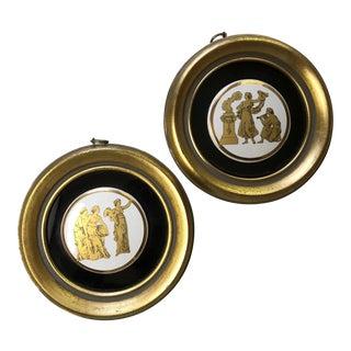 Clifford Art Studio Framed Medallions - A Pair