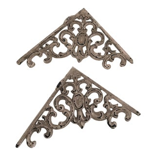 Anthropologie Beige Shelf Brackets - a Pair