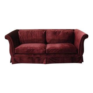 Vintage Custom Upholstered Velvet Sofa
