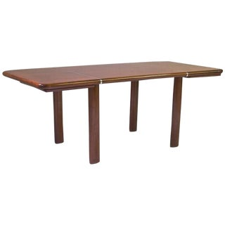 1970s Italian Mahogany Writing Table by Saporiti