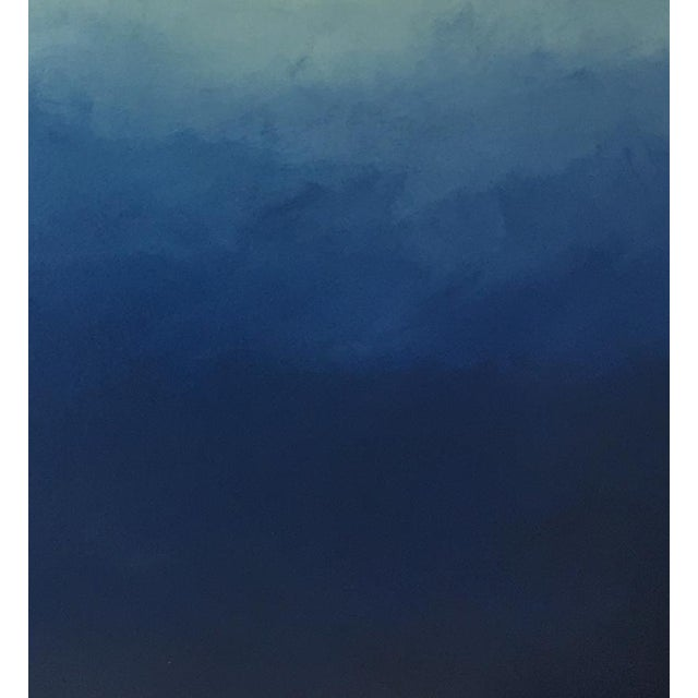 "Abstract blue Ombré - 42"" x 54"" - Image 4 of 6"