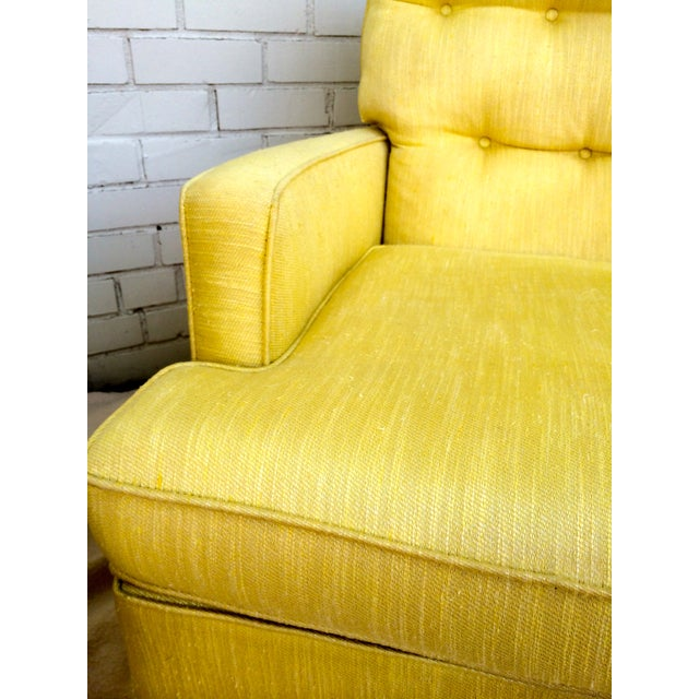 1960s Yellow Swivel Club Chairs - Image 6 of 10