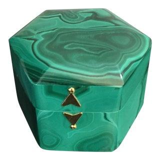 Italian Green Malachite Box