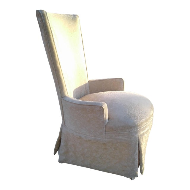 Vintage Highback Mohair Chair - Image 1 of 7