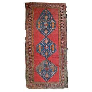 Vintage Distressed Karabagh Rug - 4′3″ × 8′9″