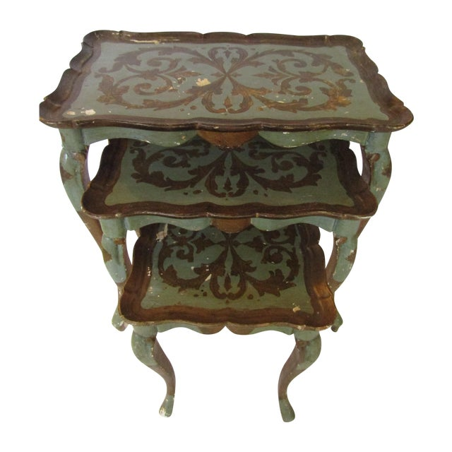 Image of Antique Florentiqe Nesting Tables - Set of 3