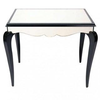 Art Deco Dominique-Style Mirrored Table
