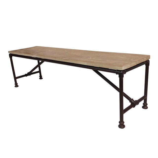 Reclaimed Wood And Metal Coffee Table: Reclaimed Wood Coffee Table W/ Metal Pipe Legs