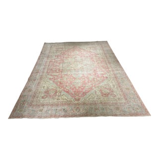 "Distressed Vintage Turkish Oushak Rug - 8'1""x11'9"""