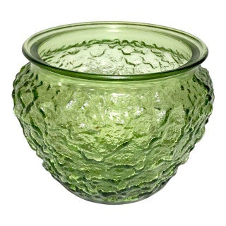 Vintage Green Textured Vase
