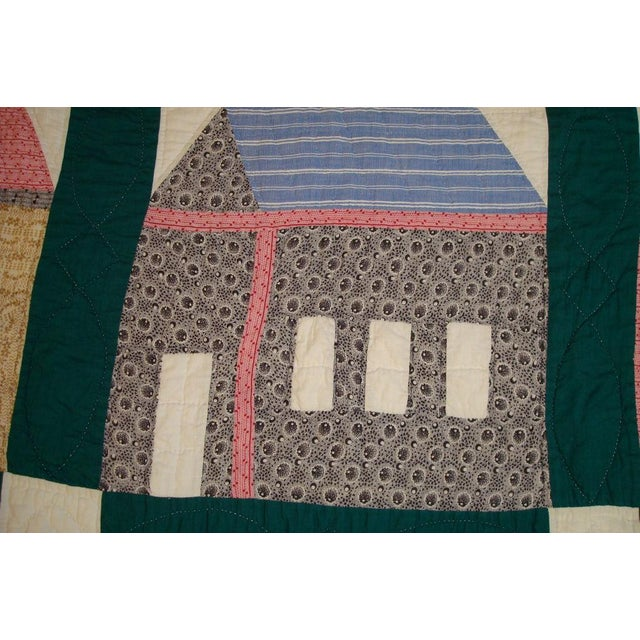 Early 20thC. Folky School House Quilt - Image 6 of 9