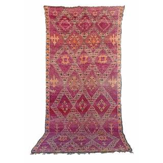 "Vintage Beni Moroccan Berber Rug - 6'2"" x 12'10"""