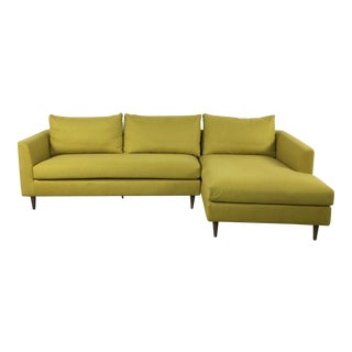 Goldenrod Modern Chaise Sectional Sofa
