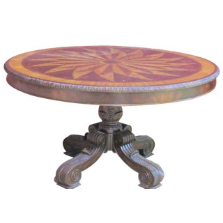 Maitland Smith Inlaid Carved Center Table