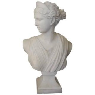 Circa 1920 Pugi Italian Diana Marble Bust