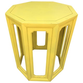 Moroccan Style Canary Yellow Side Table