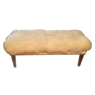 Sheepskin Lucite Bench