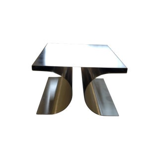Michel Boyer Stainless Steel X Stool