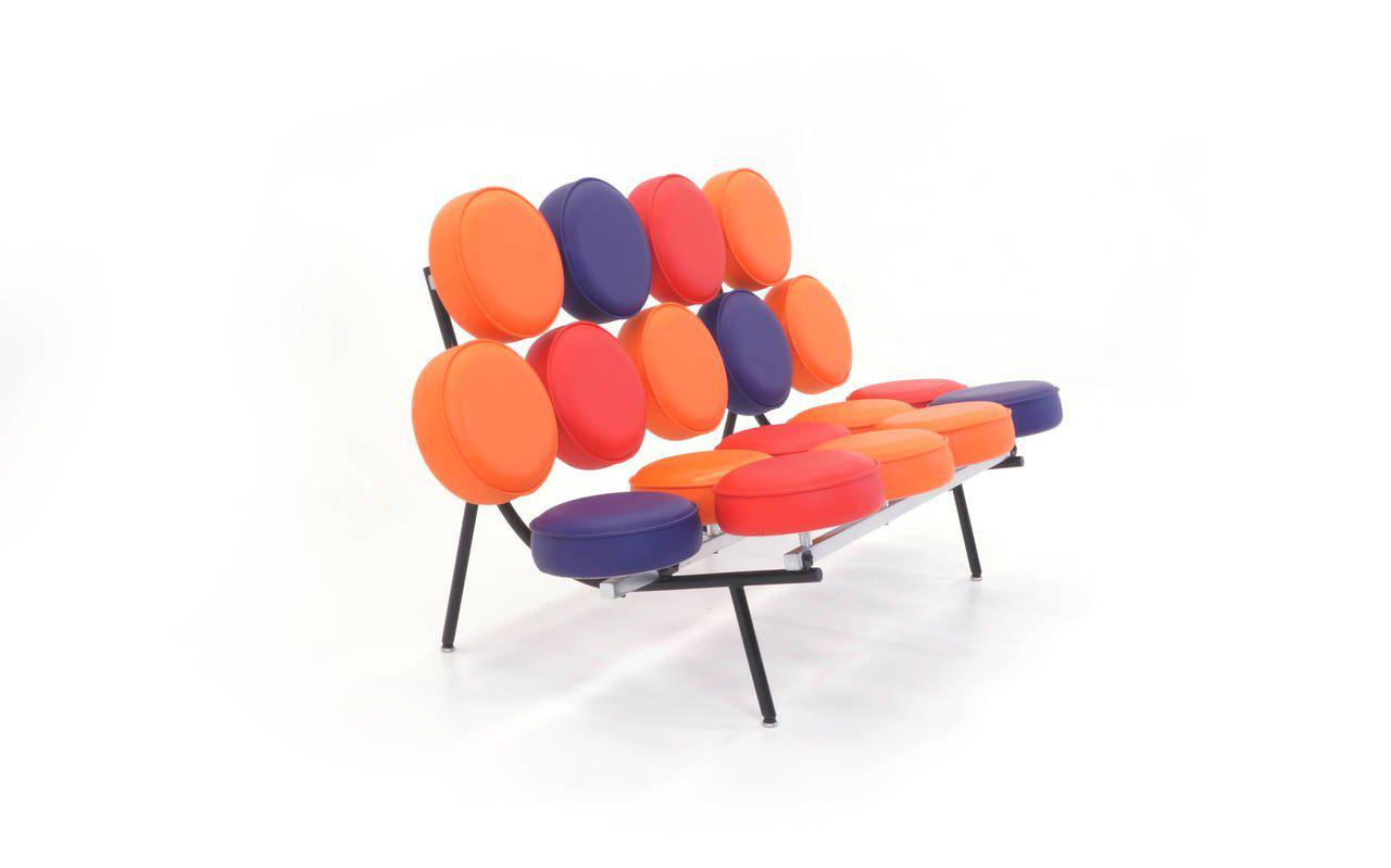 Amazing George Nelson Herman Miller Limited Edition Multicolor Marshmallow Sofa    Image 2 Of 3