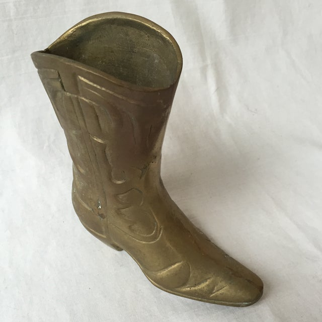 Vintage Brass Cowboy Boot - Image 4 of 5