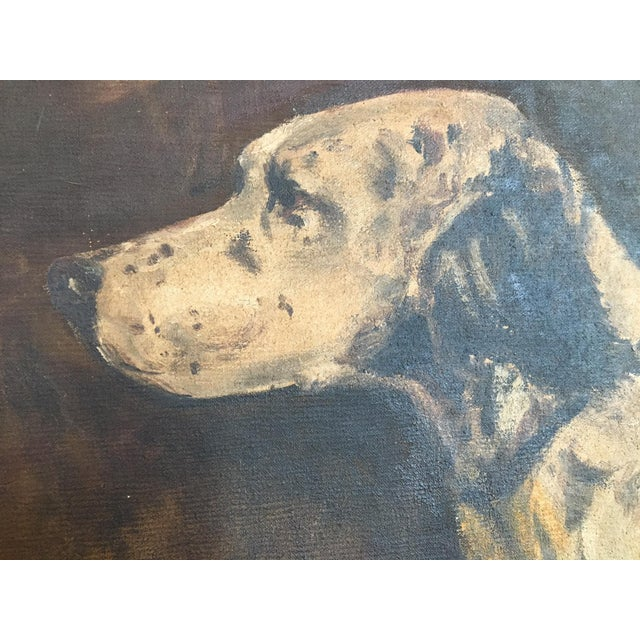 Mid-Century Hunting Dog Painting - Image 4 of 6